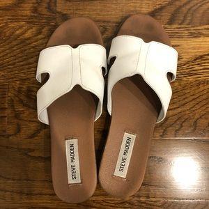 Steve Madden Hoku Leather Slide Sandals. Size 8.5